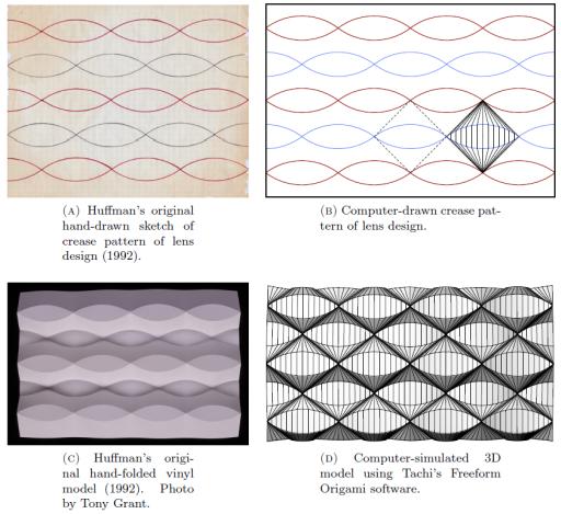 David A Huffman Duks Koschitz Tomohiro Tachi Characterization Of Curved Creases And Rulings Design Analysis Lens Tessellations ArXiv